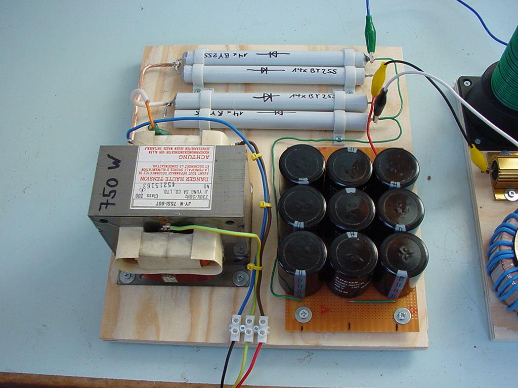 vttc-3 vacuum tube tesla coil eimac 4-250a